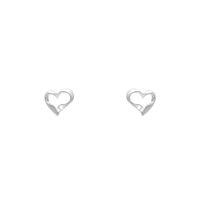 Kaylani Heart Earrings - Silver-Earrings-Wholesale-Boutique-Clothing-Accessories
