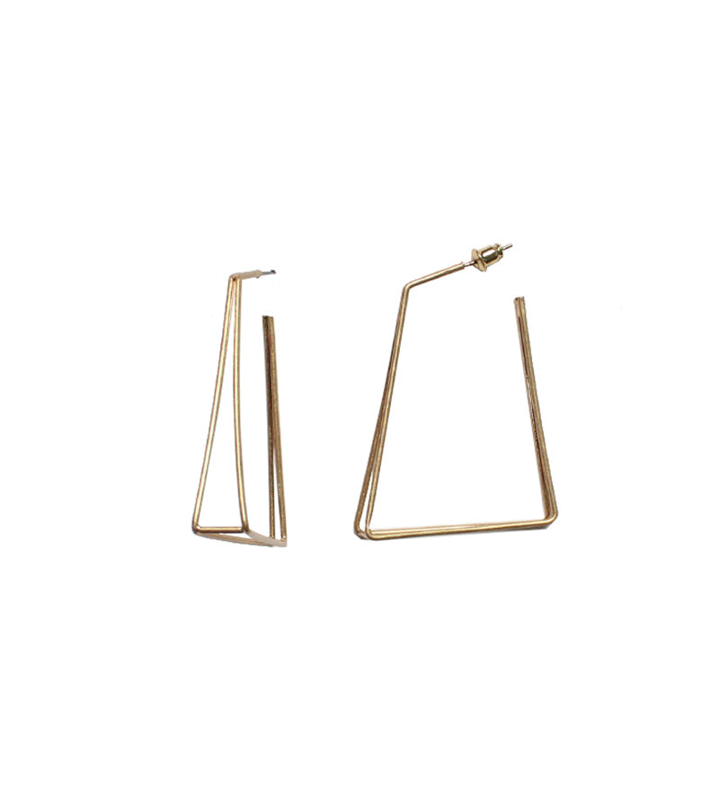 Kimberly - Worn Gold-Earrings-Wholesale-Boutique-Clothing-Accessories