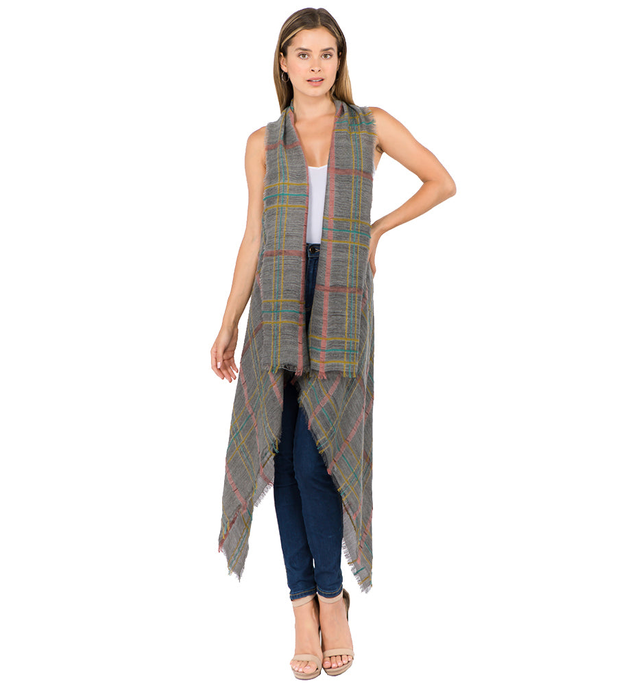 Kiran - Gray-Kimonos + Outerwear-Wholesale-Boutique-Clothing-Accessories