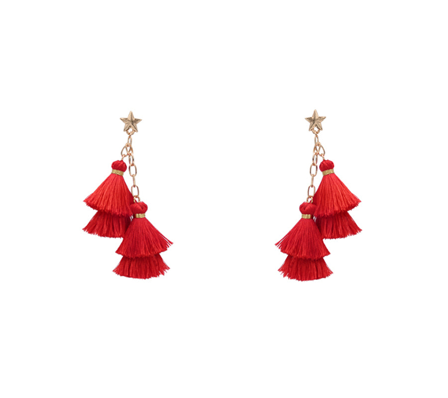 Layla - Red-Earrings-Wholesale-Boutique-Clothing-Accessories