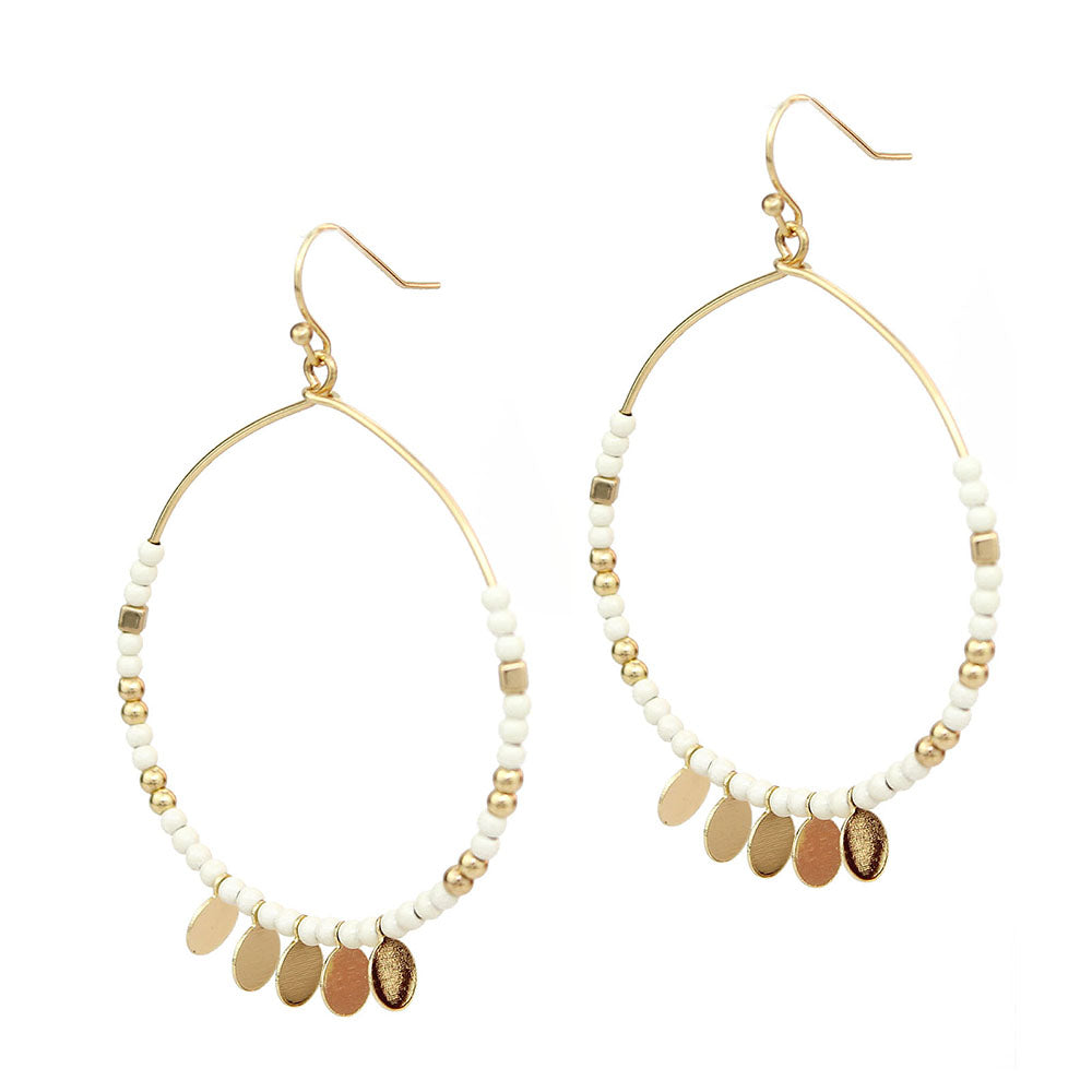 Marley - Ivory Gold-Earrings-Wholesale-Boutique-Clothing-Accessories