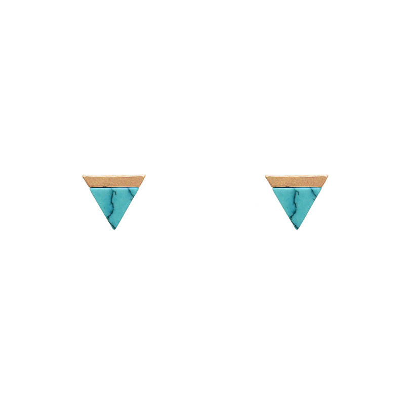 Mila - Worn Gold Turquoise-Earrings-Wholesale-Boutique-Clothing-Accessories