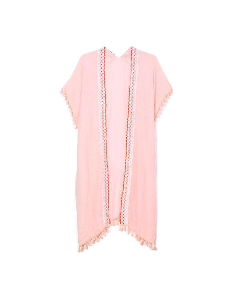 Phoebe - Peachy Pink-Kimonos + Outerwear-Wholesale-Boutique-Clothing-Accessories