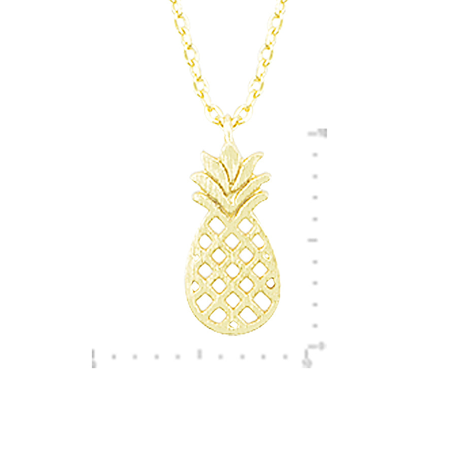 Pineapple Charm Necklace - Gold-Necklaces-Wholesale-Boutique-Clothing-Accessories