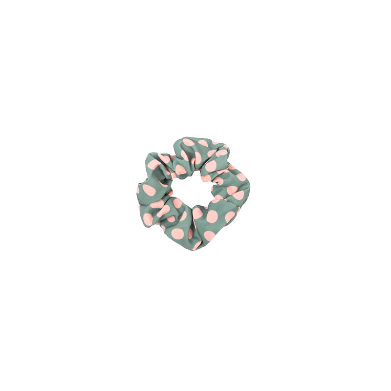 Polka Dot Scrunchie - Green (2 pcs)-Bandanas & Hair Accessories-Wholesale-Boutique-Clothing-Accessories