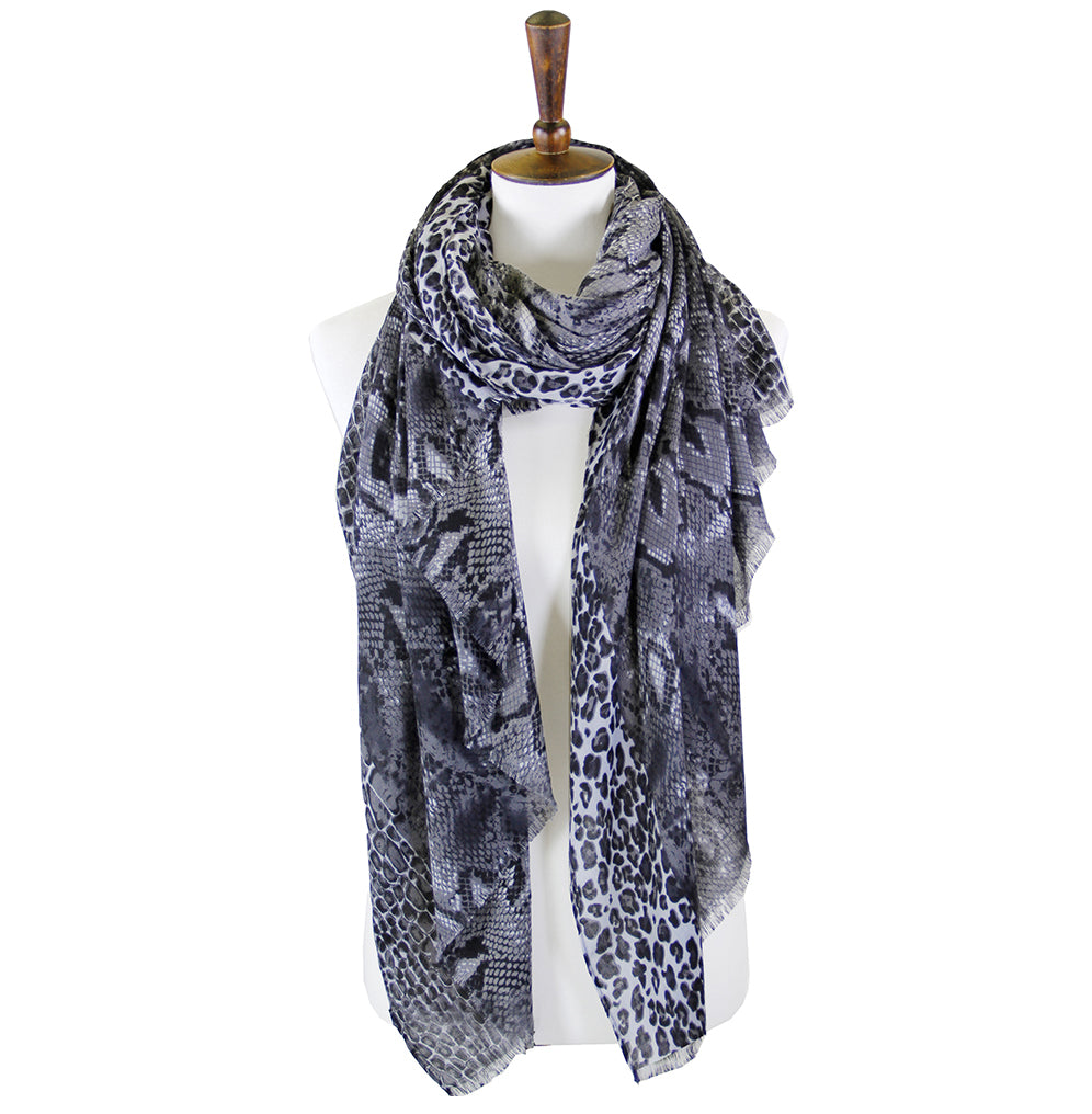 Regina - Gray (2 pcs)-Scarves + Wraps-Wholesale-Boutique-Clothing-Accessories