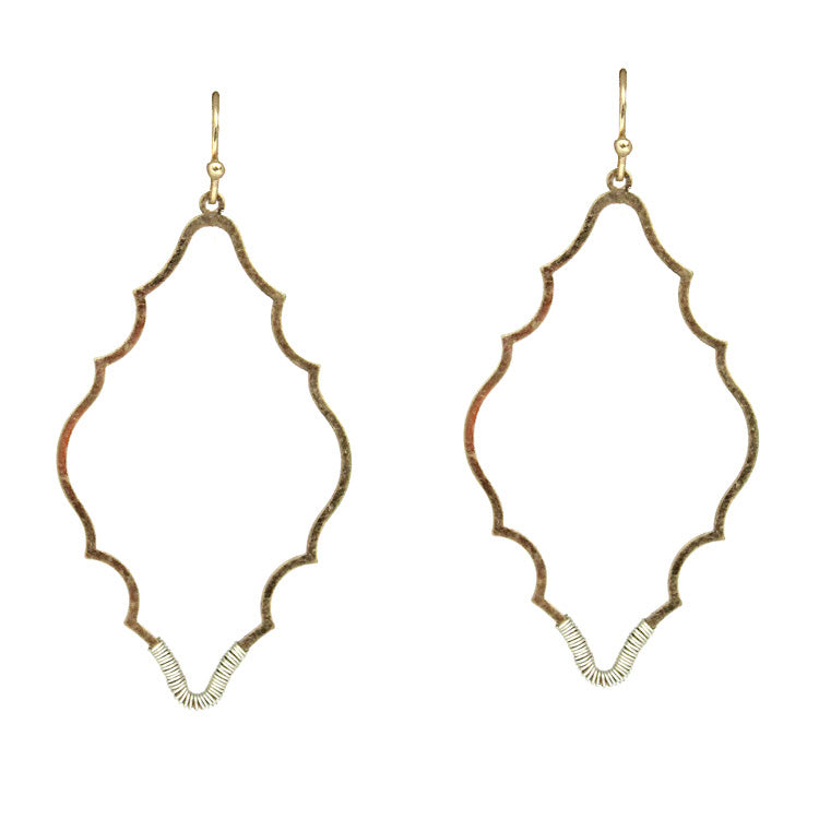 Reid Metal Earrings - Worn Gold