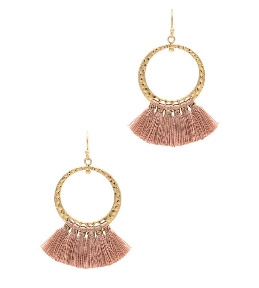 Riley - Dark Pink-Earrings-Wholesale-Boutique-Clothing-Accessories