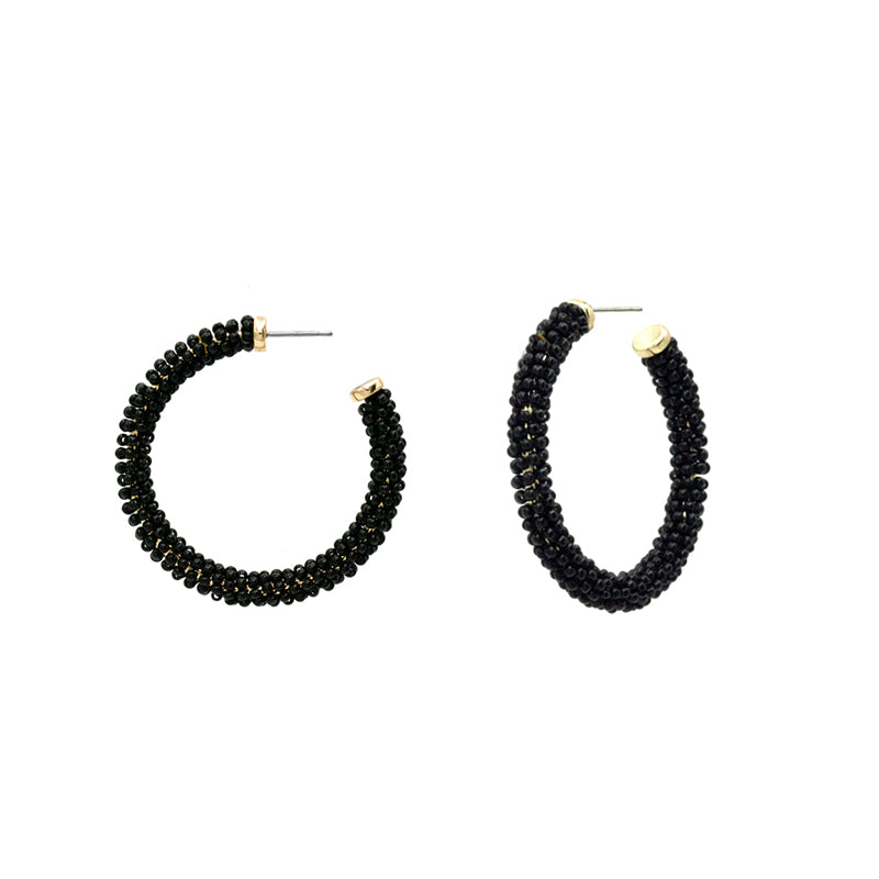 Seraphina - Black-Earrings-Wholesale-Boutique-Clothing-Accessories