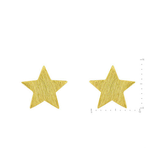 Star Stud Earrings - Gold-Earrings-Wholesale-Boutique-Clothing-Accessories
