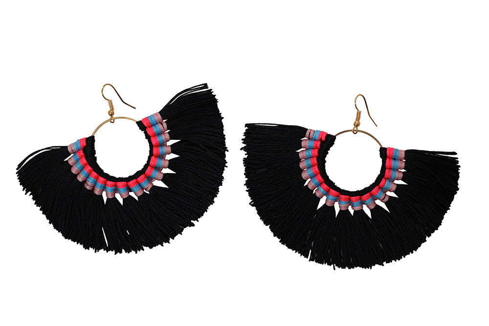 Sutton - Black-Earrings-Wholesale-Boutique-Clothing-Accessories