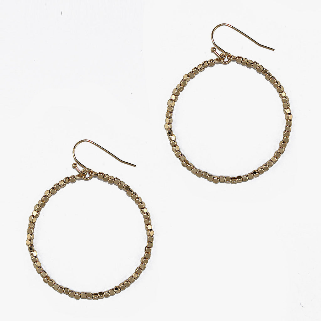 Tessa Hoop Earrings - Gold