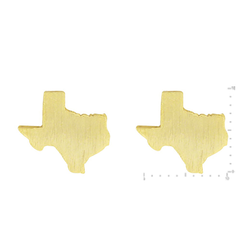 Texas Stud Earrings - Gold-Earrings-Wholesale-Boutique-Clothing-Accessories