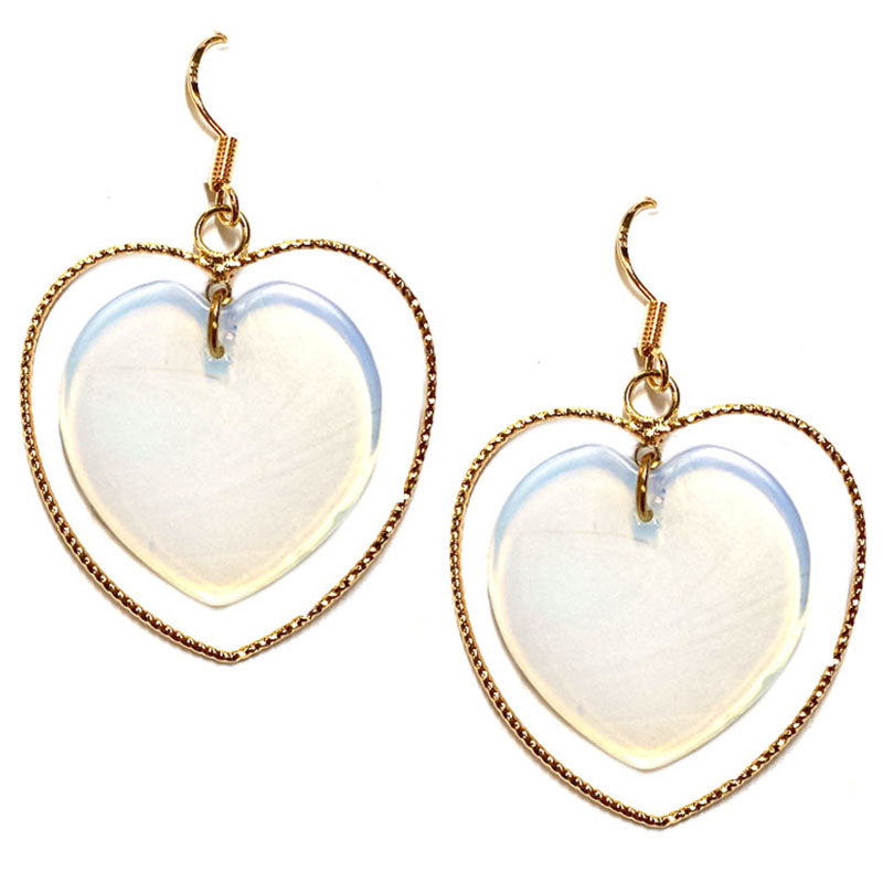 Whitney Heart Earrings - Opal-Earrings-Wholesale-Boutique-Clothing-Accessories