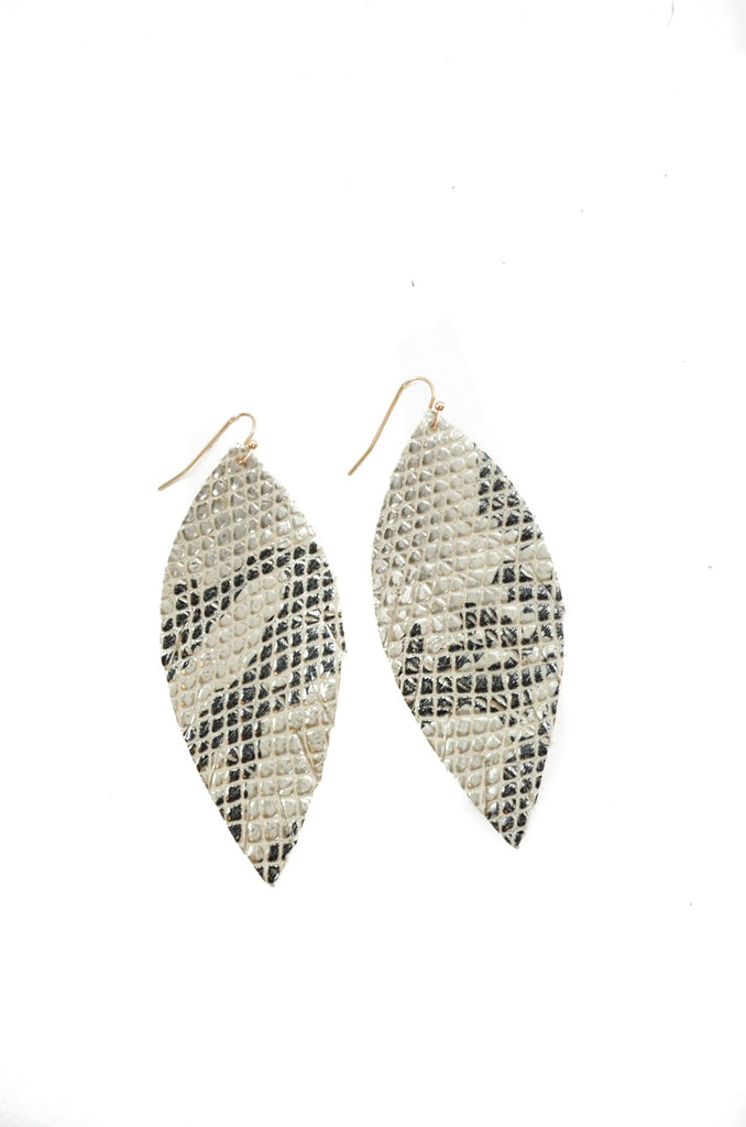 Single Layer Leather Earring - Python