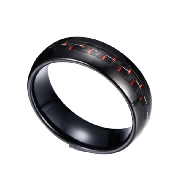 Black Carbon Ring 8mm