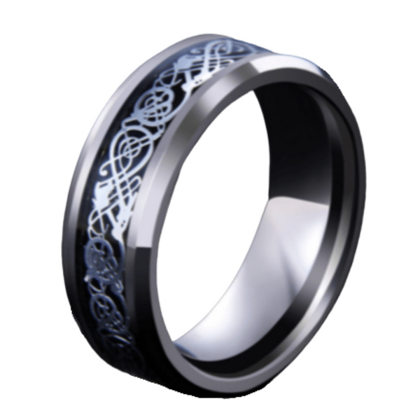 Dragon Pattern Ring 8mm