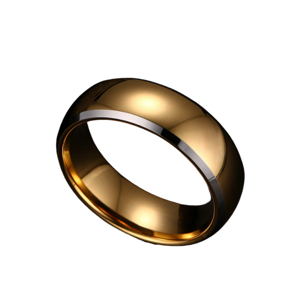 Gold Plated Tungsten Ring 8mm