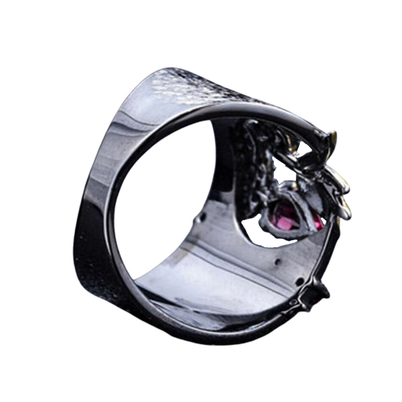 Hollow Two Color Horse Eye Zircon Ring