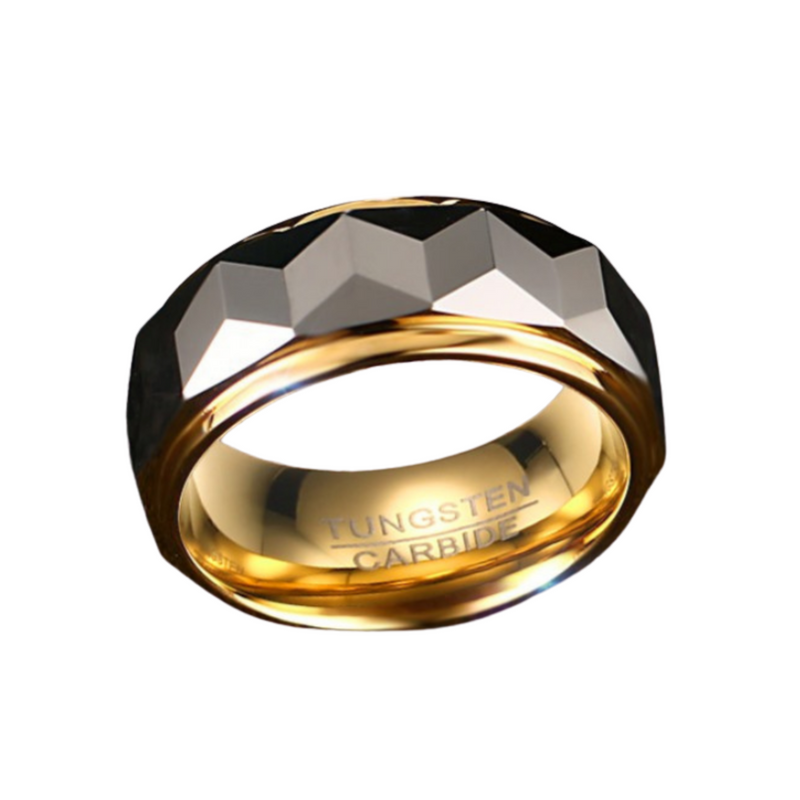 Prism Shiny Wedding Band Ring 8mm