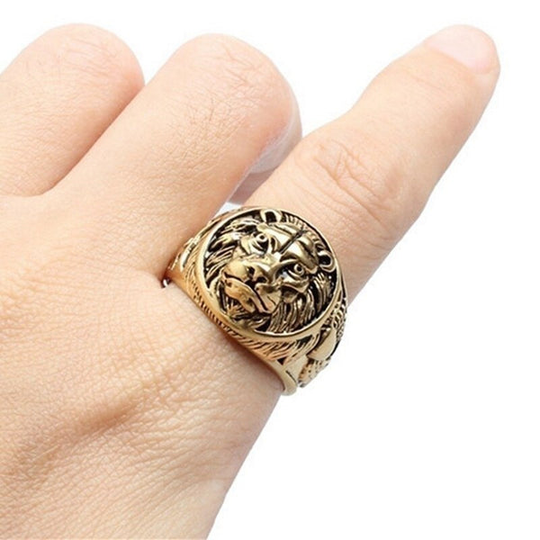 Lion Head Rings For Men