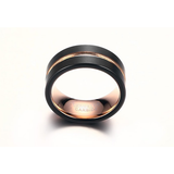 Multi Coloured Stripe Ring 8mm - primejewelry
