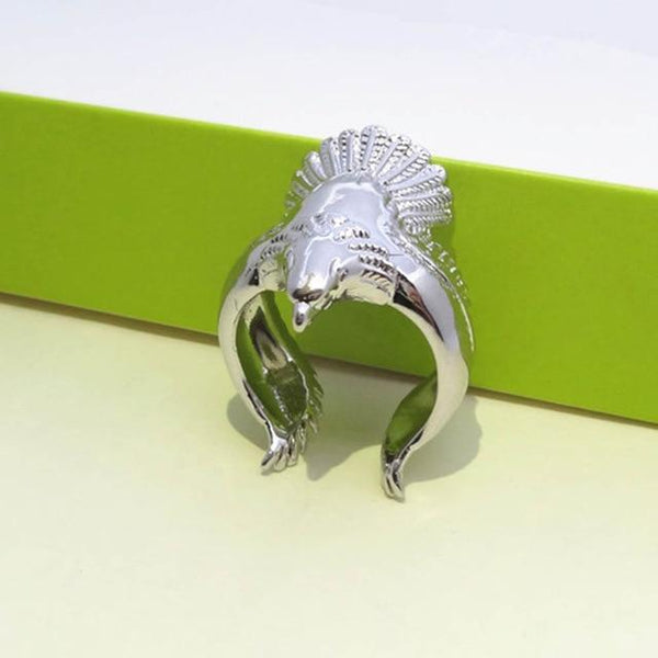 Fashion Stainless Steel Eagle Wings Open Ring Men Ring