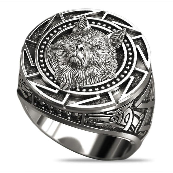 Retro Wolf Totem Rings for Men