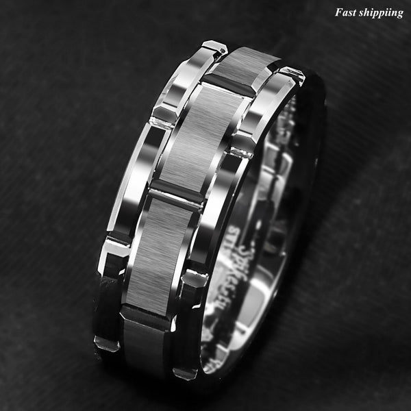 Tungsten Carbide Ring Silver