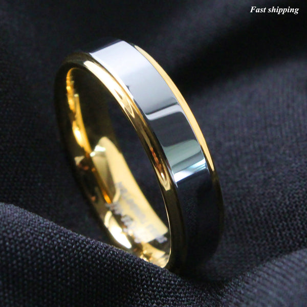 Gold High polished Wedding Band