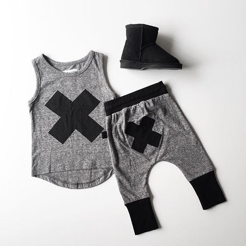 X Marks The Spot -  Sleeveless Top and Harem Pants