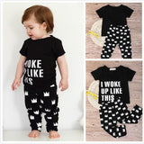 I Woke Up Like This - Two Piece Unisex T-Shirt and Pants Outfit