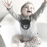 Baby Bear - Bear Shirt and Polka Dot Leggings