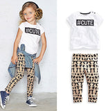 Hastag Cute - T-Shirt and Pants Outfit