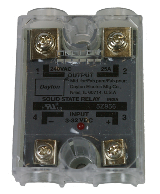 11195 - Solid State Relay 24 vdc / 120 vac 25 amp
