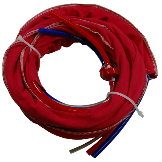 10871 - RSGh (2 to 1)  One-hole hose set Red/Blue 3/8