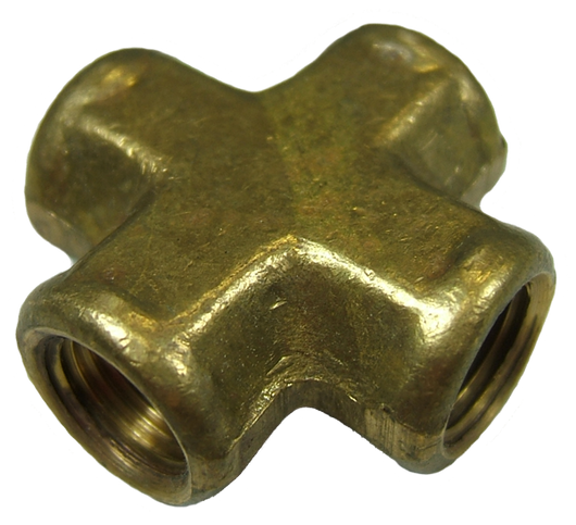 11518 - 1/8 NPT Female Cross - Brass