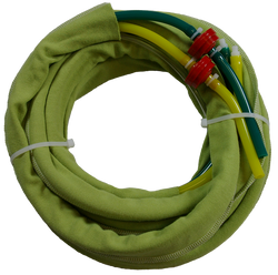 10872 - RSGh (2 to 1)  One-hole hose set Green/Yellow 3/8