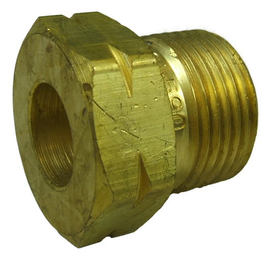11458 - CGA - 590 Nut Brass LH male