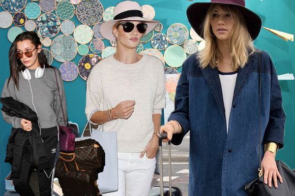 Celebrity airport looks : Travel outfit inspo!