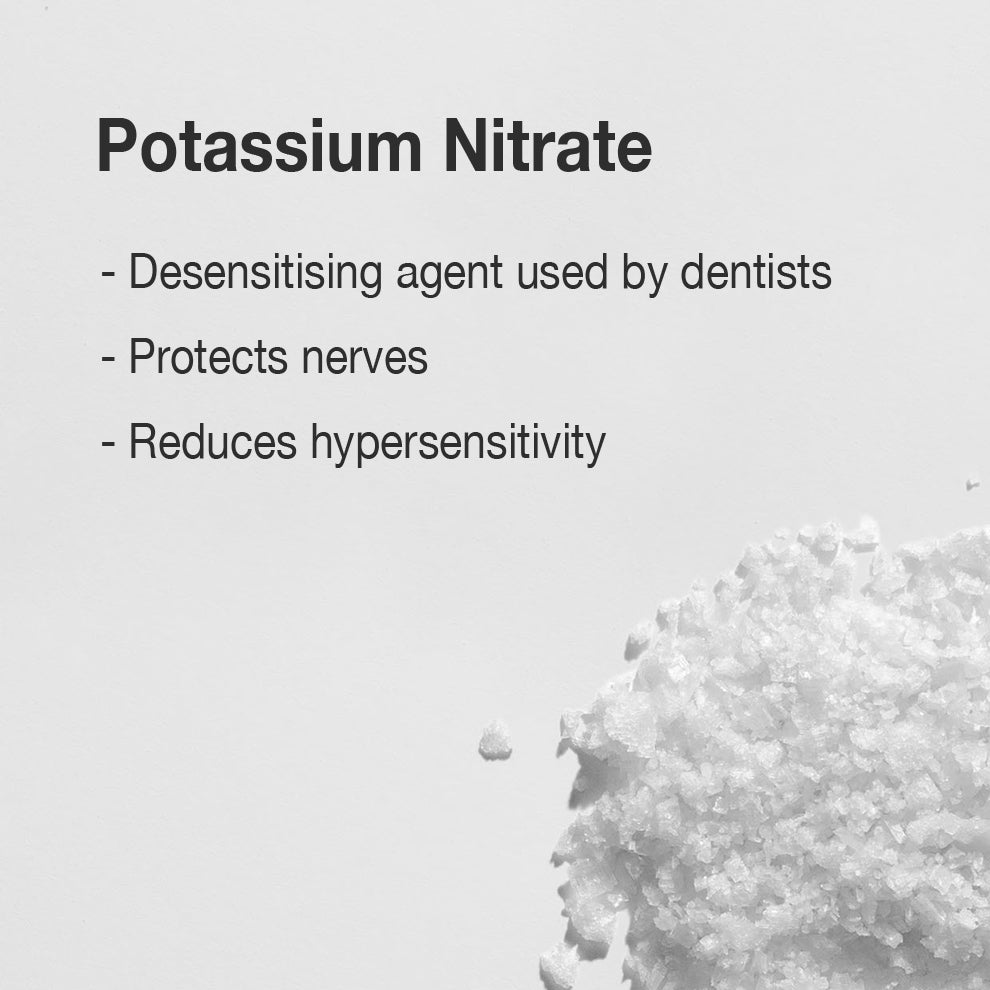 Potassium Nitrate is a commonly used ingredient in toothpastes designed specifically for sensitive teeth