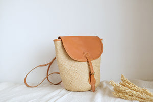 Open image in slideshow, Cara Rattan Backpack