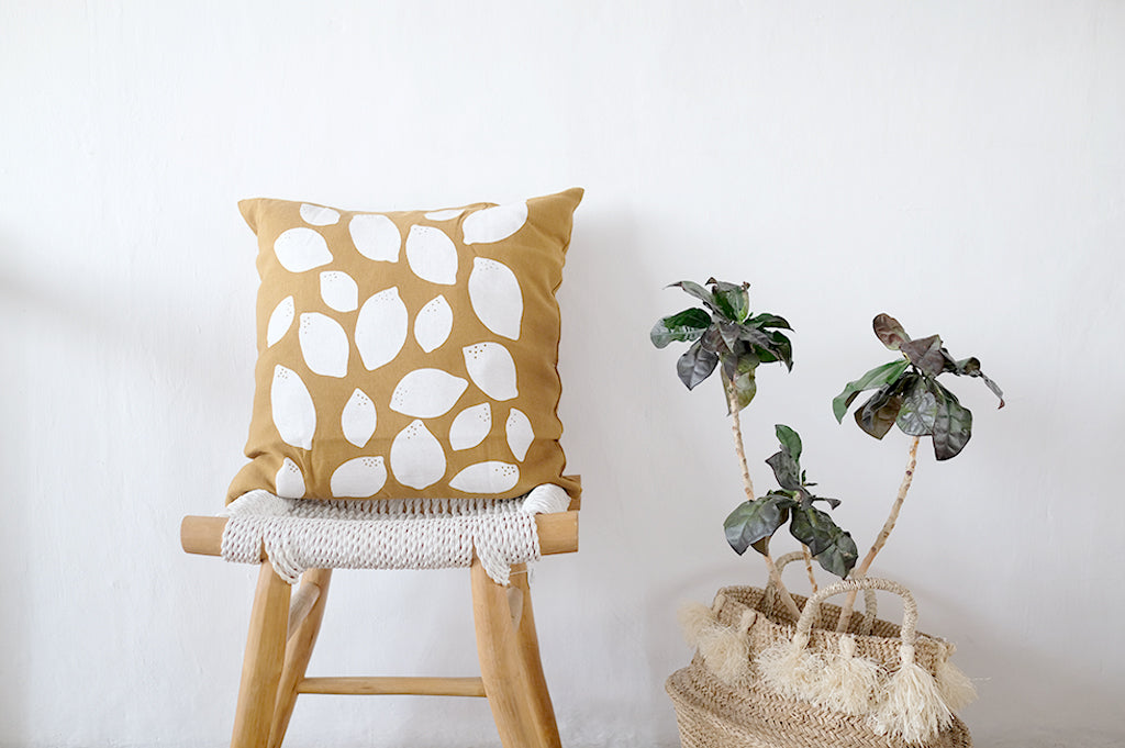 Cotton Cushion Lemon