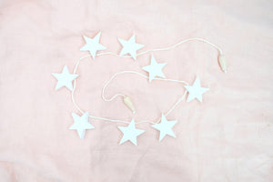 Garland Stars Natural / White