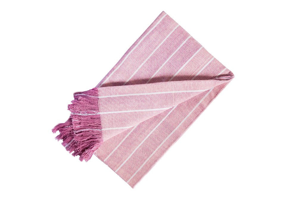 Striped Throw Simple Pink