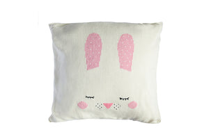 Open image in slideshow, Knitted / Linen Cushion Bunny