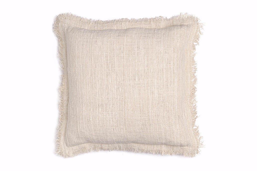 Fringe cushion Natural
