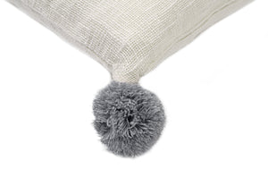 Open image in slideshow, Big Pompom Pillow White