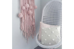 Wool Hanging Stick Pink