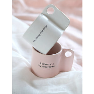 Handmade Ceramic Cup Quote